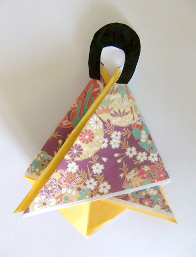 making japanese paper doll puppets