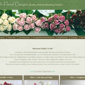New Website Development: Artificial Wedding Flowers by Mika