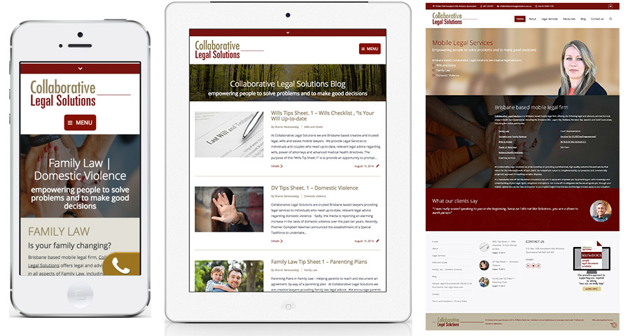 Responsive Legal Firm Web Design