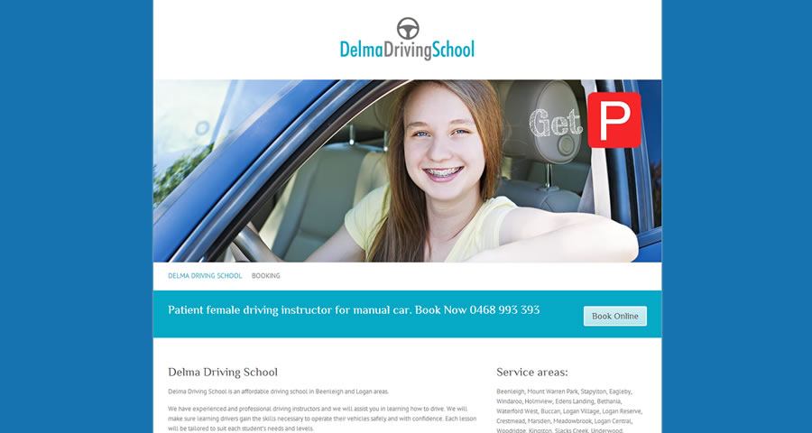Beenleigh Web Design, Delma Driving School website by Sumico Net