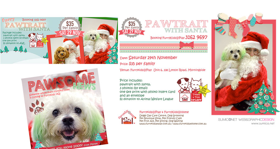Xmas promotion flyer, facebook cover, facebook post photo