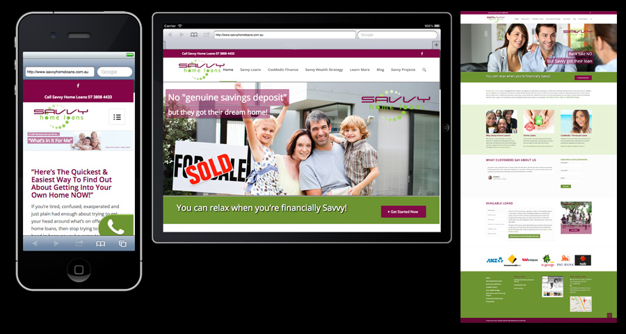 Savvy Home Loans Springwood Website by Sumcio Net
