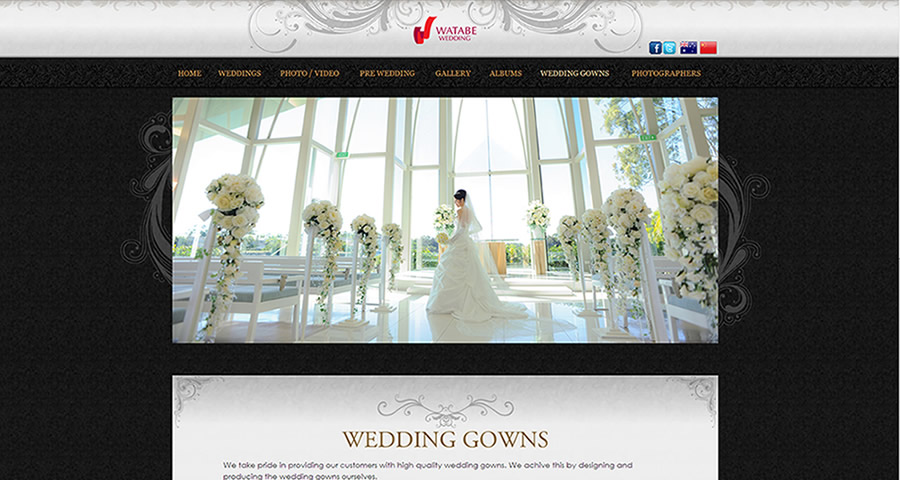 Sumico Net Web Design Portfolio: Watabe Wedding
