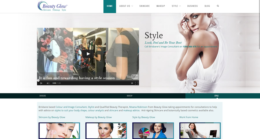 Beauty Glow Website by Sumico Net