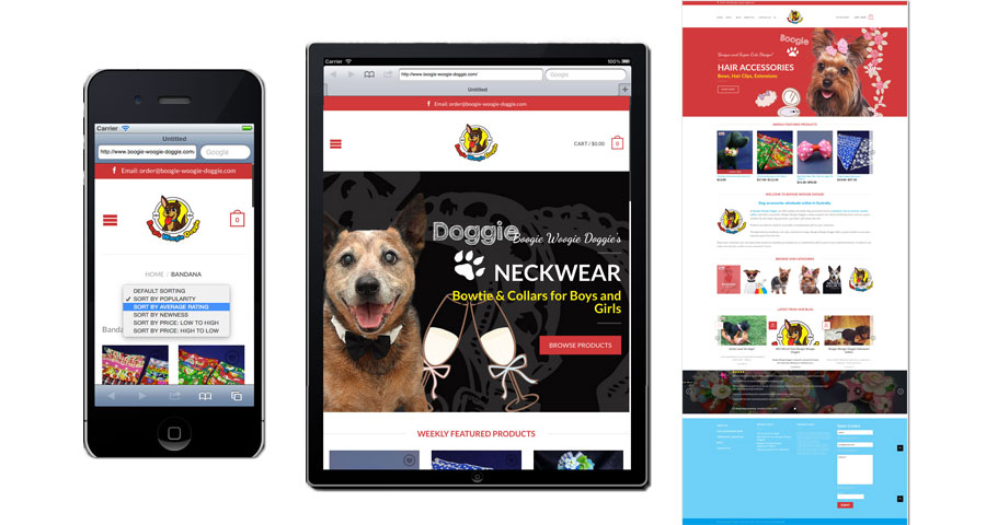 Boogie Woogie Doggie Responsive Online shop Website
