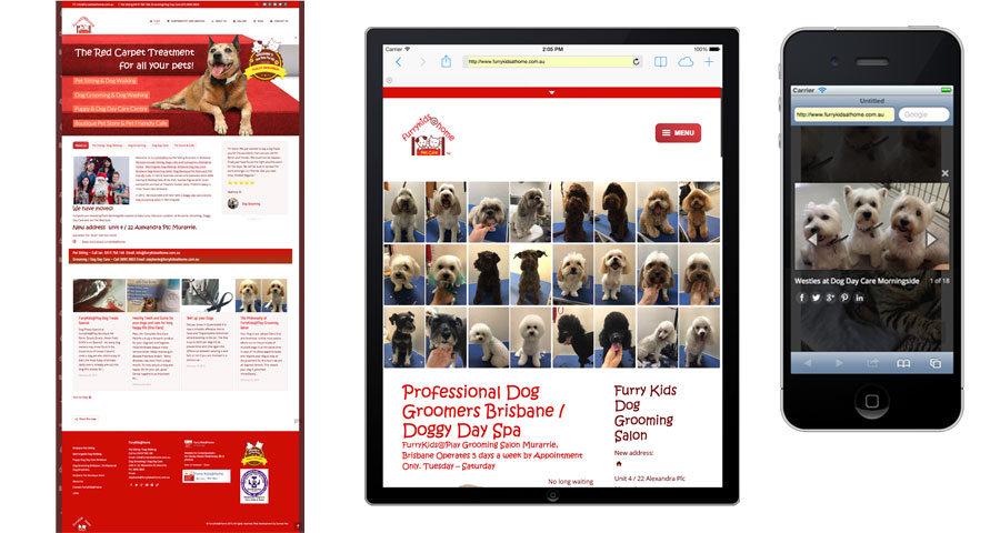 FurryKids at Home, Pet Care Service Website by Sumico Net